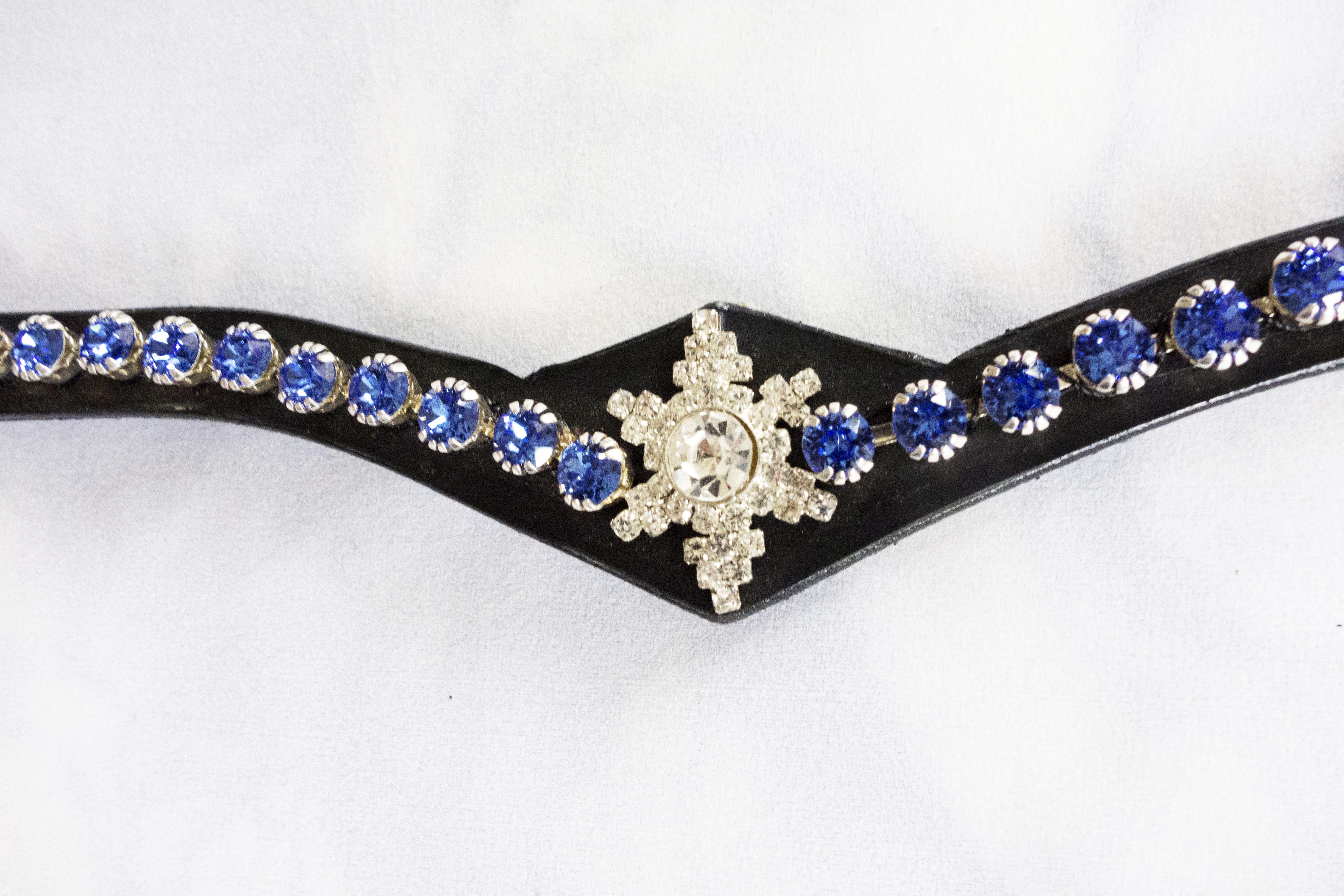 Pannband med stjärna och stora blå stenar