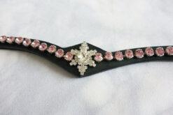 Pannband med stjärna och stora rosa stenar