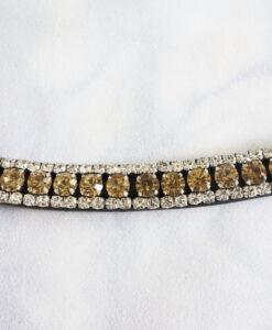 Pannband med Champagnefärgade stora stenar